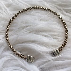 Diamond gold bracelet sterling silver bangle Italy